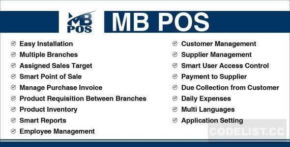 MB POS v1.1 - Inventory & Stock Management System