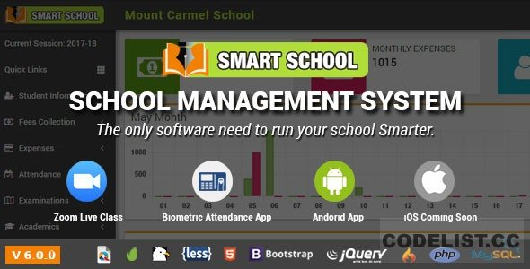 Smart School v6.0.0 - School Management System