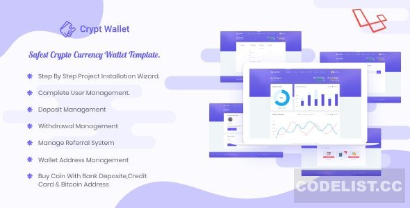 CryptWallet v1.9 - Crypto Currency Web Wallet Pro