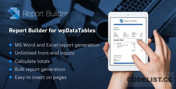 Report Builder add-on for wpDataTables v1.1.8
