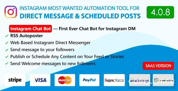 DM Pilot v4.0.8 - Instagram Chat Bot, Web Direct Messenger & Scheduled Posts - nulled