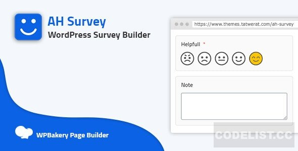 AH Survey v1.0.0 - Survey Builder With Multiple Questions Types