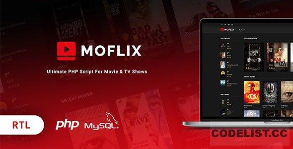 MoFlix v1.0.1 - Ultimate PHP Script For Movie & TV Shows