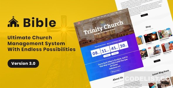 Bible v3.0 - Church Management System - nulled