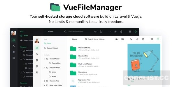 Vue File Manager with Laravel v1.6.3 - Your Private Cloud