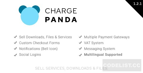 ChargePanda v1.2.2 - Sell Downloads, Files and Services (PHP Script)