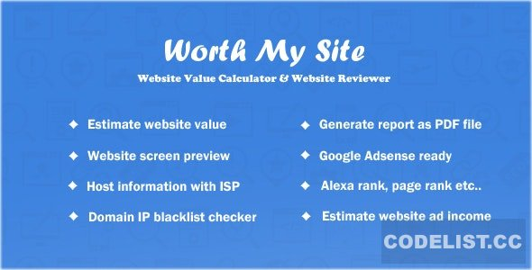 Worth My Site v1.9.9 - Website Value Calculator - nulled