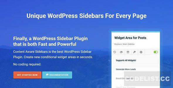 Content Aware Sidebars Pro v3.12.2
