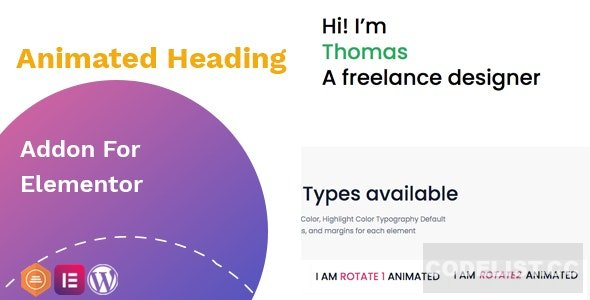 Animated heading addon v1.0.1 – widget for Elementor