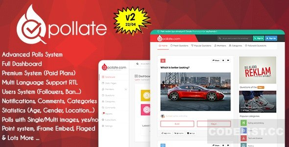 Pollate v2.0 - Premium Polls and Voting Platform