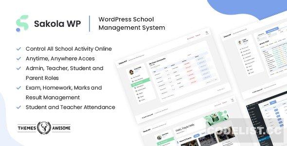 SakolaWP v1.0.0 - WordPress School Management System