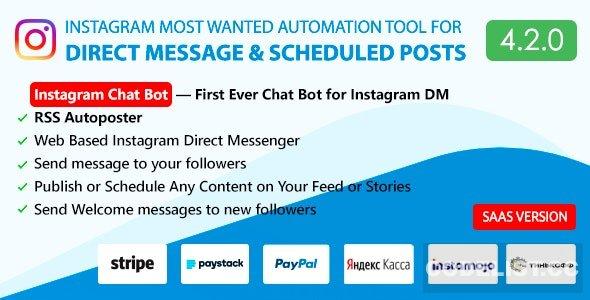 DM Pilot v4.2.0 - Instagram Chat Bot, Web Direct Messenger & Scheduled Posts
