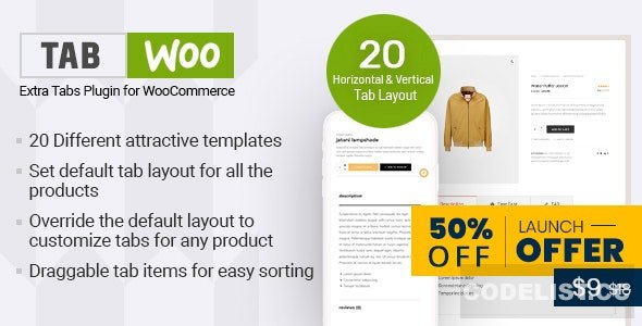 TabWoo v1.0.2 - Custom Product Tabs for WooCommerce