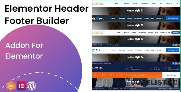 Elementor Header Footer Builder v1.0.2 - Addon