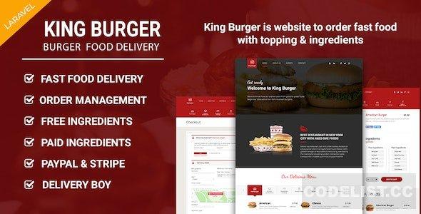 King Burger v1.3 - Restaurant Food Ordering website with Ingredients In Laravel