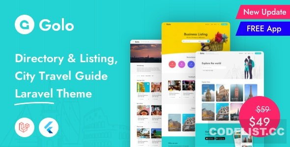 Golo v1.1.6.1 - Directory & Listing, City Travel Guide Laravel Theme