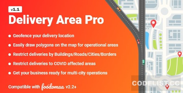 Delivery Area Pro v1.1 - Module for Foodomaa