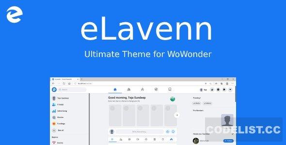 eLavenn v1.0 - The Ultimate WoWonder Theme