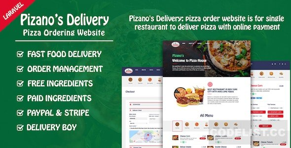 Pizano's Delivery v1.0 - Unlimited pizza order website