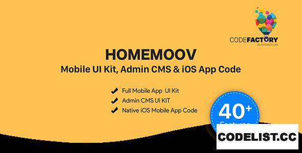 HOMEMOOV v1.0 - Mobile UI Kit, Admin CMS & iOS App Code