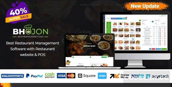 Bhojon v2.2 - Best Restaurant Management Software with Restaurant Website - nulled
