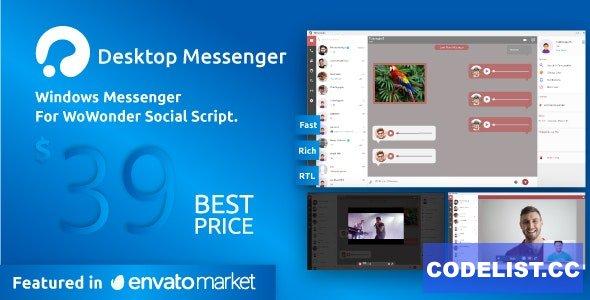 WoWonder Desktop v3.2 - A Windows Messenger For WoWonder Social Script