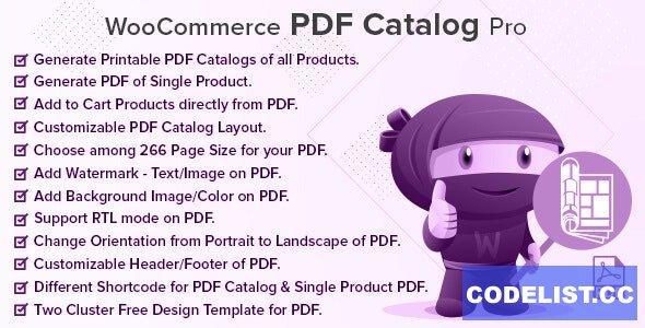 WooCommerce PDF Catalog Pro v2.0.0