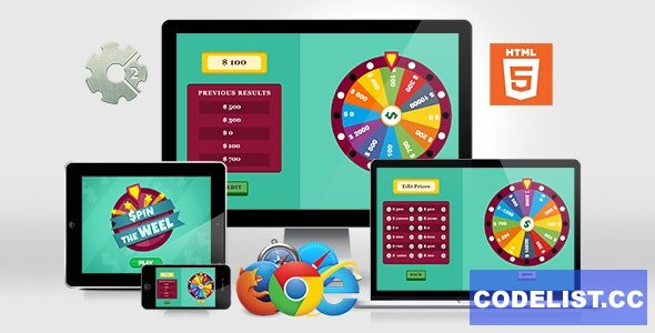 Spin the Wheel v1.0 - HTML5 Game (.capx)
