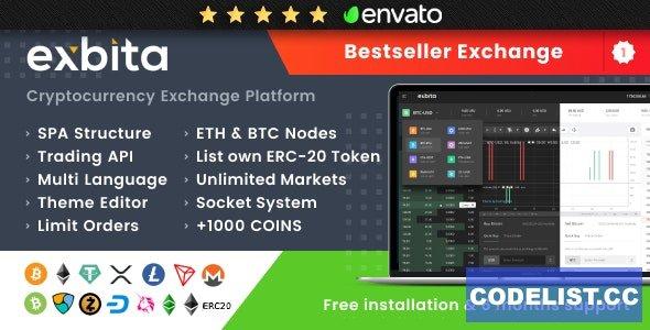 Exbita v2.2.2 - Cryptocurrency Exchange Script