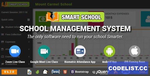 Smart School v6.2.0 - School Management System - nulled