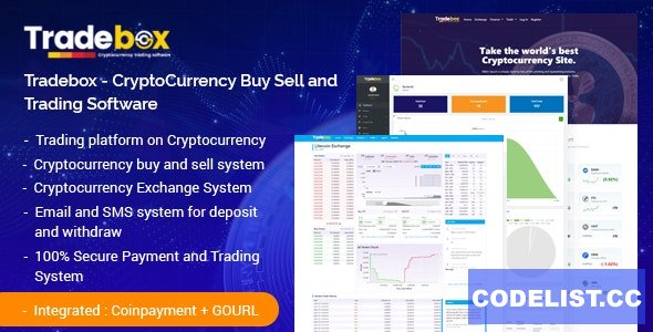 Tradebox v6.0 - CryptoCurrency Buy Sell and Trading Software - nulled