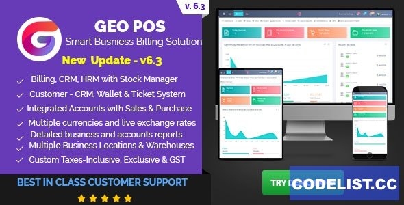 Geo POS v6.3 - Point of Sale, Billing and Stock Manager Application - nulled