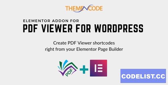 Elementor PDF Viewer for WordPress Addon v1.1.0