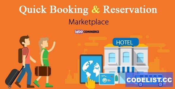 Woocommerce Hotel Reservation & Booking Marketplace v1.0