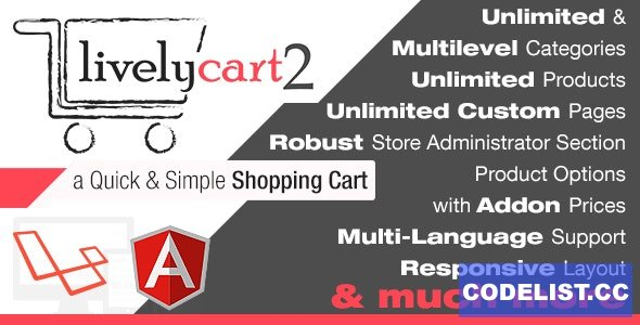 LivelyCart v2.8.7.0 - a Quick and Simple JavaScript PHP Shopping Cart