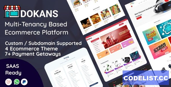 DOKANS v1.2.5 - Multitenancy Based Ecommerce Platform (SAAS) - nulled