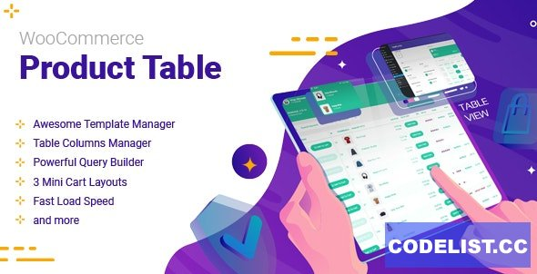 WooCommerce Product Table v2.2.0