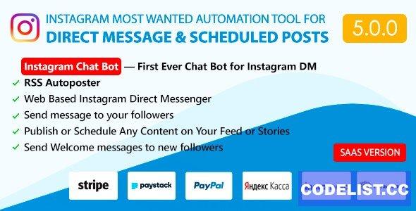 DM Pilot v5.0.0 - Instagram Chat Bot, Web Direct Messenger & Scheduled Posts - nulled