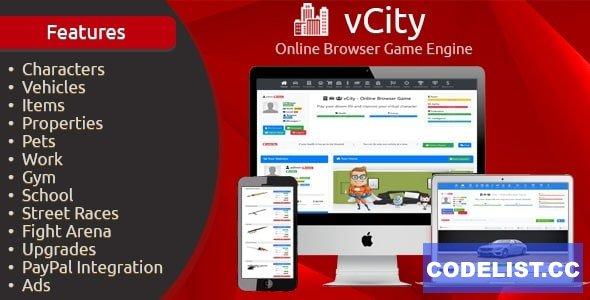 vCity v2.2.1 - Online Browser Game Platform