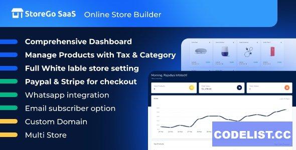 StoreGo SaaS v1.6.0 - Online Store Builder - nulled