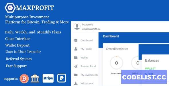 Max Profit v5.0 - Online Multipurpose Investment Platform