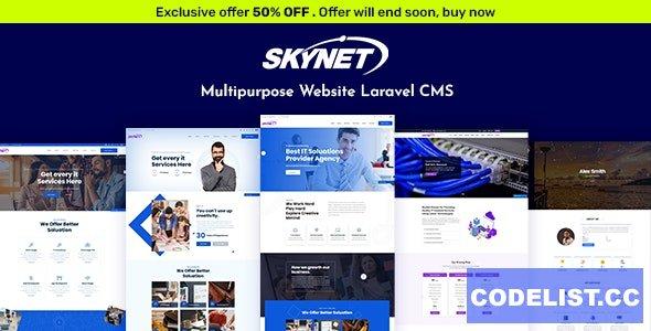 Skynet v3.2 - Multipurpose Laravel CMS