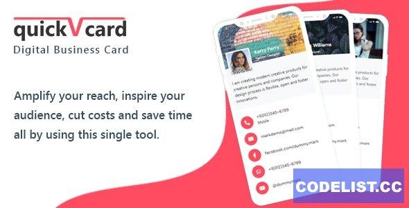 QuickVCard v1.3 - Digital Business Card SaaS PHP Script