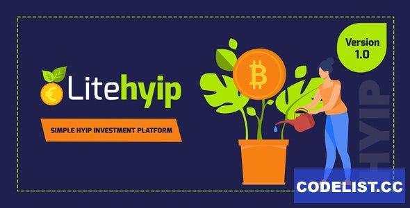 LiteHYIP v1.0 - Simple HYIP Investment Platform