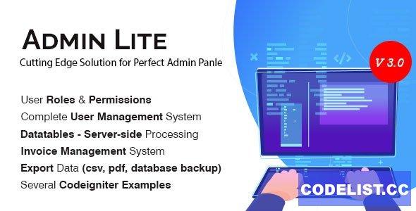 Admin Lite v3.0 - PHP Admin Panel + User Management