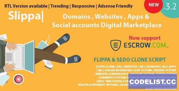 Slippa v3.2.1 - Domains,Website ,App & Social Media Marketplace PHP Script - nulled