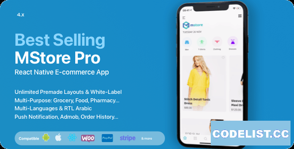 MStore Pro v4.5.0 - Complete React Native template for e-commerce