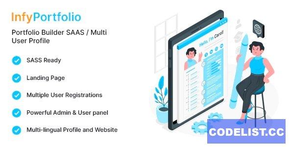 InfyPortfolio-Saas v1.0 - Laravel Saas Personal Portfolio / Resume / CV Website Theme