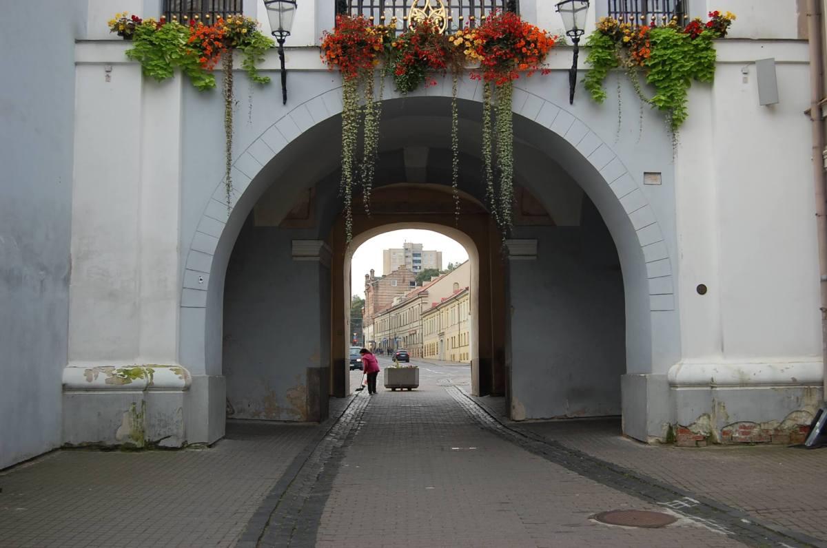 Ausros Vartu Street Vilnius Old Town