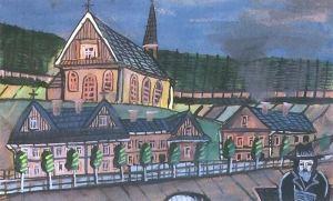 Krynica-Zdroj Nikifor painting